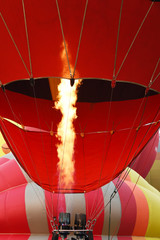 colorful hot air balloons in the start of journey trip for background