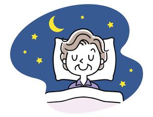 睡眠:シニア女性