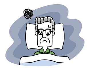 睡眠:シニア男性
