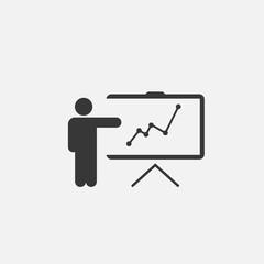 person presenting data vector icon