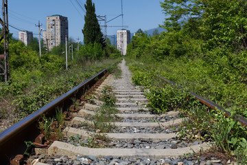 abandoned rail way and stations in abkhazia