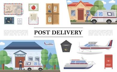 Flat Post Service Composition