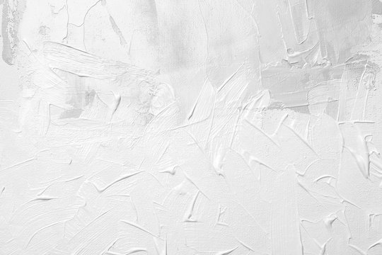 White paint oil on canvas