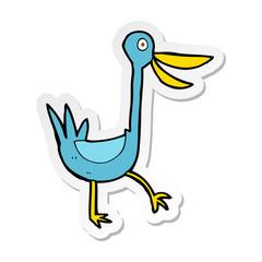 sticker of a funny cartoon duck