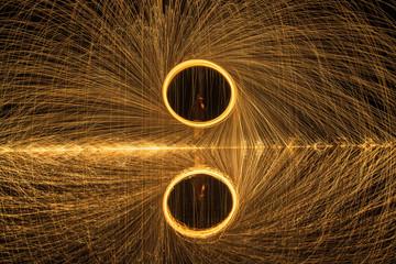 steel wool fireworks