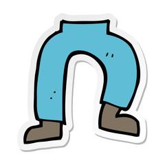 sticker of a cartoon legs