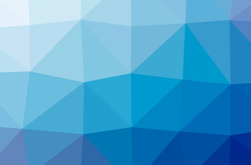 Illustration of abstract Blue horizontal low poly background. Beautiful polygon design pattern.