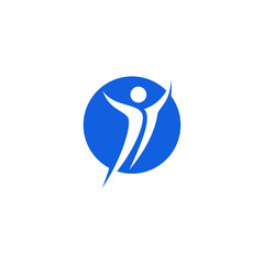 People Sport Gym Icon Template Logo