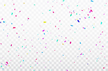 Celebration background template with confetti Colorful ribbons frame. luxury greeting rich card. Wall mural