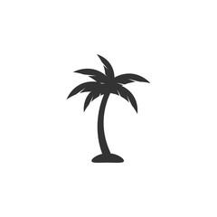 Obraz Palm tree icon design template vector isolated - fototapety do salonu