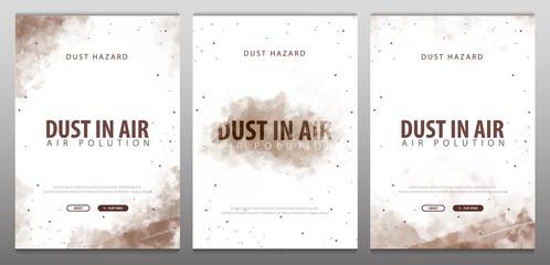 Dust in Air. Dust hazard. Polluted air. Vector Illustration.