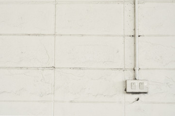 White wall and white switch
