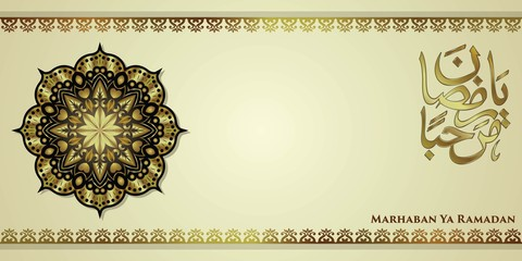 Luxury ramadan background, marhaban ya ramadan