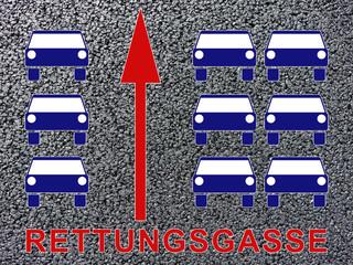 Rettungsgasse bilden Illustration Icon