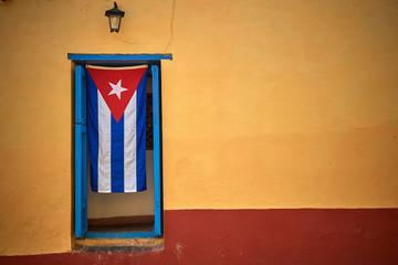 Deurstickers Havana Cuban flag