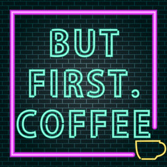 Garden Poster Retro sign coffee neon sign