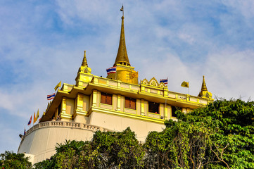 Temple in the Golden Mount in Bangkok, Thailand