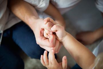 Fototapeta Rodzina, ręce rodziny, związek ludzie obraz