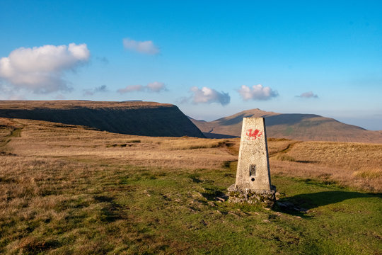 Welsh Flag on Beacon in Brecon