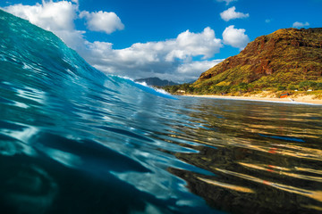 Wall Mural - Smooth and glassy wave ready to break on shore. Oahu, Hawaii