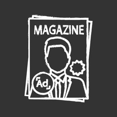 Magazine chalk icon