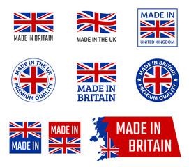 Fototapeta made in United Kingdom, Great Britain product emblem obraz