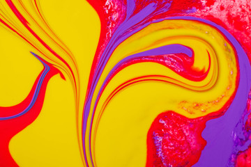 Abstract background of a mix color paints