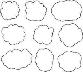 Rough sketch of a cloud type frame set