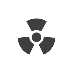 Toxic radioactive medical icon simple flat illustration