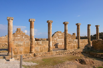 Columns at The House of Theseus in Paphos Archaeological Park
