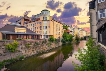 Spa resort town of Baden bei Wien. Austria, Europa Fototapete