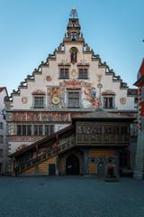 Das alte Rathaus in Lindau am Bodensee in Bayern, Deutschland