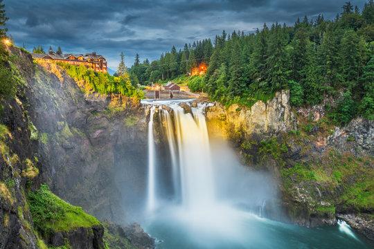 Falls City, Washington, USA at Snoqualmie Falls