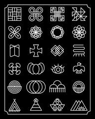 flat glyphs design element, minimalist graphic tattoo, icon, symbol graphic design template,  Adinkra symbol, Asian traditional symbols
