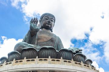 Tian Tan Buddha, Big Budda, The enormous Tian Tan Buddha at Po Lin Monastery in Hong Kong. The world's tallest outdoor seated bronze Buddha located in Ngong ping 360.