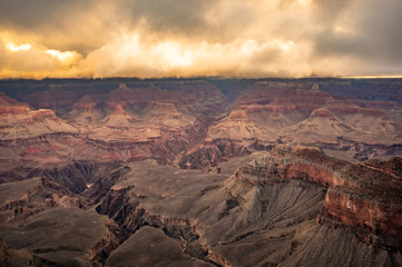 Golden Clouds Over the Grand Canyon at Sunrise