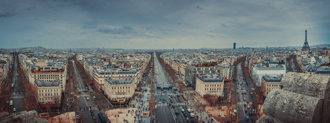 Paris Panoramic from the Arc de Triomphe