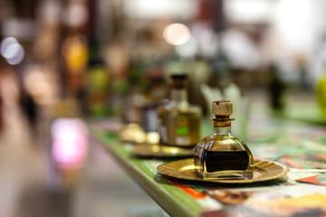 small bottle of modena balsamic vinegar on local market