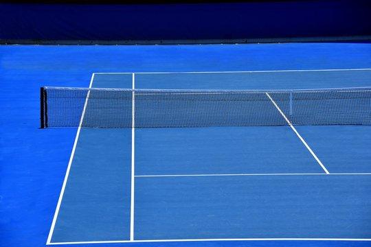 blue tennis court australian open