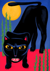 Panther with yellow eyes