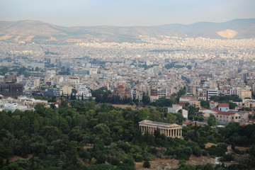 Buildings in centre of Athens, Greece