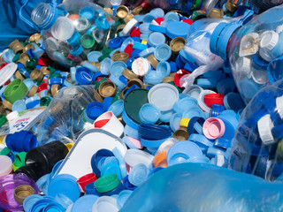 Plastikmüll - Plastikflaschen - Kunststoff Verpackungsmüll