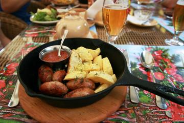 food in restaurant