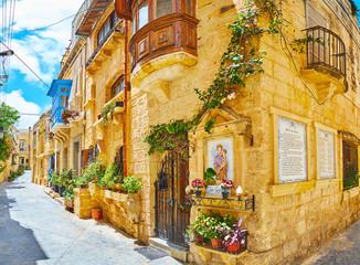 The cozy streets of Rabat, Malta