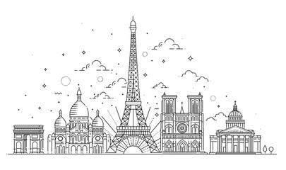Architectural landmarks of Paris Fototapete