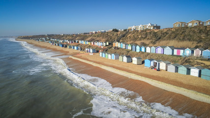 The colorful huts at the south coast of England
