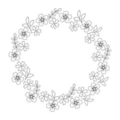 cute flowers wreath crown