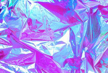 Abstract Modern bright colored holographic background in 80s style. Synthwave. Vaporwave style. Retrowave, retro futurism, webpunk