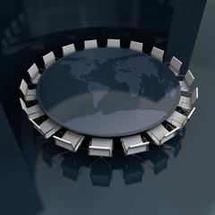 Global board meeting black