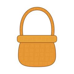 cute basket straw icon
